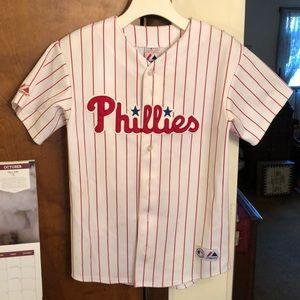 AUTHENTIC PHILLIES Utley baseball jersey